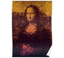 Sunset Mona Lisa Poster