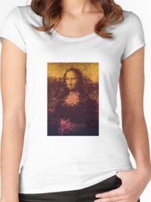 Sunset Mona Lisa Women's Fitted Scoop T-Shirt