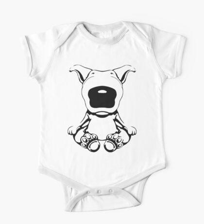 English Bull Terrier Sit Design One Piece - Short Sleeve
