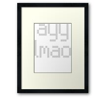 ayy lmao Framed Print