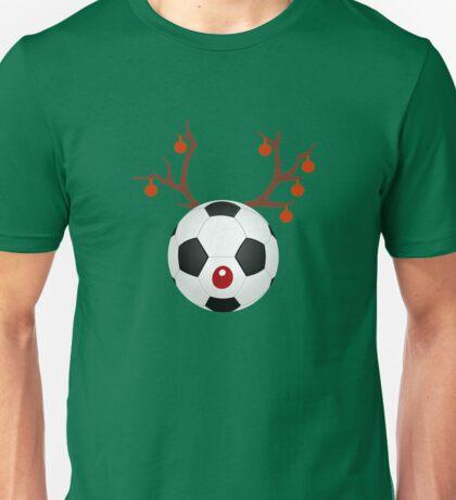 Soccer Reindeer Funny Christmas T-Shirt Unisex T-Shirt