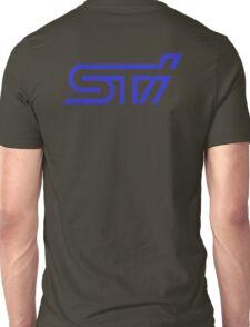 STI Classic Blue Back only Unisex T-Shirt
