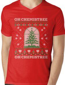 Chemistry Oh Chemistree Ugly Christmas Sweater Mens V-Neck T-Shirt