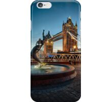Tower Bridge and The Girl & The Dolphin iPhone Case/Skin