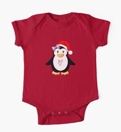 Santa Penguin One Piece - Short Sleeve