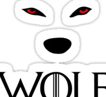 Keep calm wolf is coming - Game of Thrones Sticker