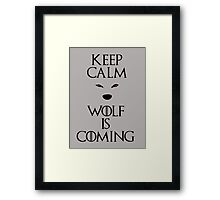 Keep calm wolf is coming - Game of Thrones Framed Print