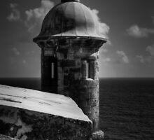 Garita del Morro 001 BW by Lance Vaughn