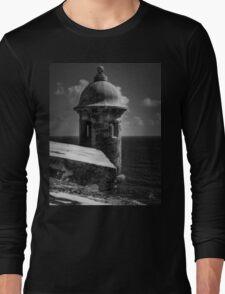 Garita del Morro 001 BW Long Sleeve T-Shirt