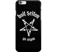 Hail Seitan 1.1 (white) iPhone Case/Skin
