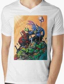 Salty Roo - Tonight, we dine on turtle soup! Mens V-Neck T-Shirt