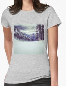 Taos, New Mexico Mountain Top View Womens Fitted T-Shirt