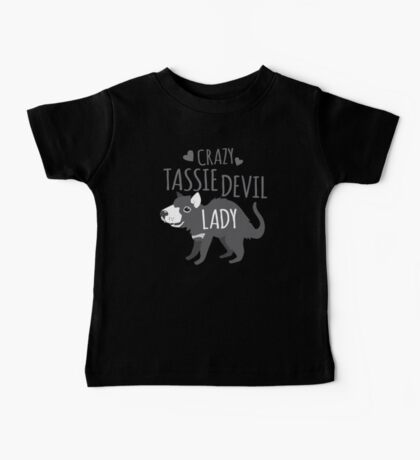 Crazy Tassie devil lady Baby Tee