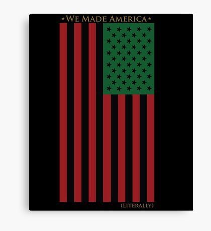 RED BLACK AND GREEN FLAG Canvas Print