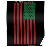 RED BLACK AND GREEN FLAG Poster