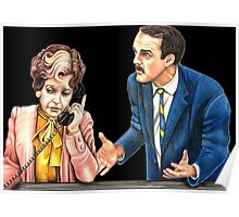 Fawlty Towers : Sybil and Basil Poster