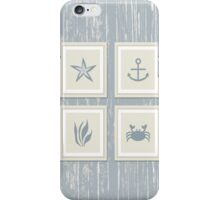 Rustic Framed Beach Decor on Driftwood iPhone Case/Skin