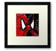 Spider Man & Venom Splatter Art Framed Print