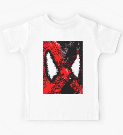 Spider Man & Venom Splatter Art Kids Tee