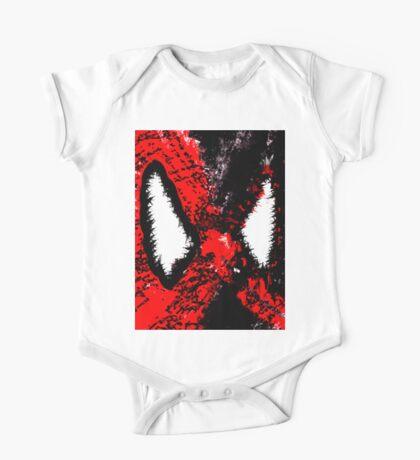 Spider Man & Venom Splatter Art One Piece - Short Sleeve