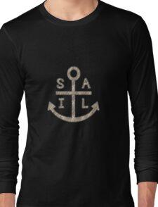 Rustic Sail Anchor Long Sleeve T-Shirt