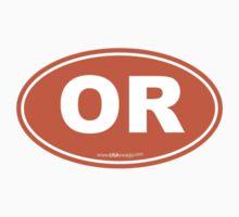 Oregon OR Euro Oval ORANGE Kids Clothes