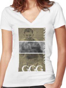 "Gennady ""GGG"" Golovkin Women's Fitted V-Neck T-Shirt"