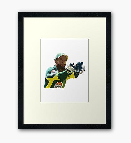Matthew Wade - Cricket Design Framed Print