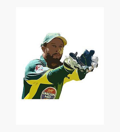 Matthew Wade - Cricket Design Photographic Print