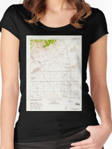 USGS TOPO Map California CA Willow Springs 302003 1943 62500 geo Women's Fitted Scoop T-Shirt