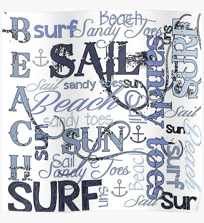 Beach Quotes & Sayings Poster