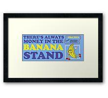 Banana Stand Framed Print