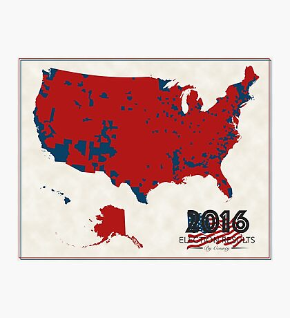 2016 Election Results Photographic Print