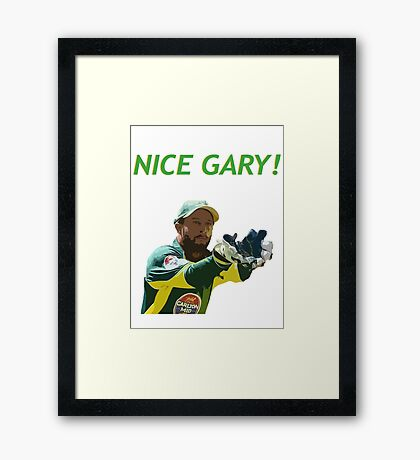Nice Gary! - Matthew Wade Design Framed Print