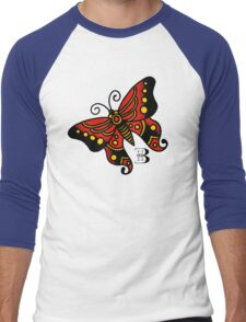 traditional butterfly Men's Baseball ¾ T-Shirt