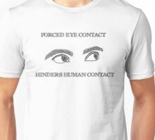 Eye Contact - Light Background Unisex T-Shirt
