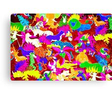 Story Book Jungle Canvas Print