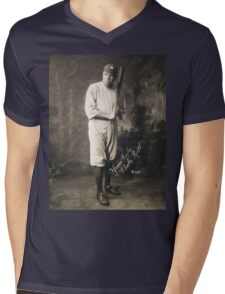 Yours Truly, Babe Ruth - NY Yankees Mens V-Neck T-Shirt