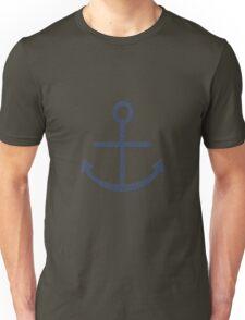 Rustic Navy Blue Ship Anchor Unisex T-Shirt