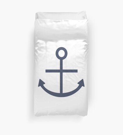 Rustic Navy Blue Ship Anchor Duvet Cover