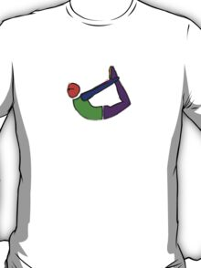 Painting of bow yoga pose. T-Shirt