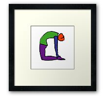 Painting of camel yoga pose. Framed Print