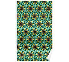 Flower Pinwheel Pattern Poster