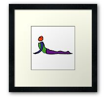Painting of cobra yoga pose. Framed Print