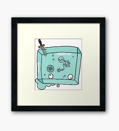 DnD Gelatinous Cube Framed Print
