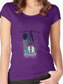 Ski and boarder friends BRT Women's Fitted Scoop T-Shirt