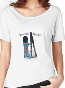 Ski and boarder friends BRT Women's Relaxed Fit T-Shirt