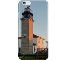 Beavertail Lighthouse at Sunrise iPhone Case/Skin