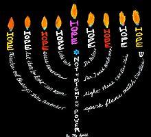 Happy Hanukkah Card by GolmantGallery