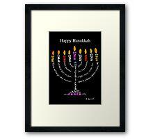 Happy Hanukkah Card Framed Print